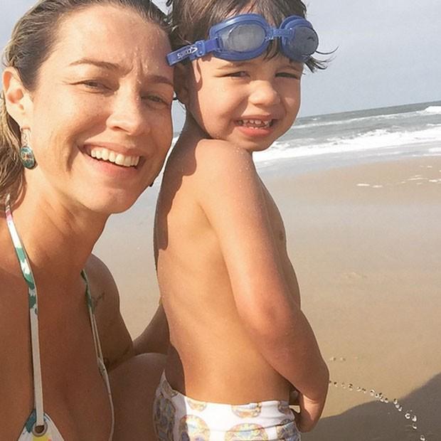 Luana Piovani e seu filho