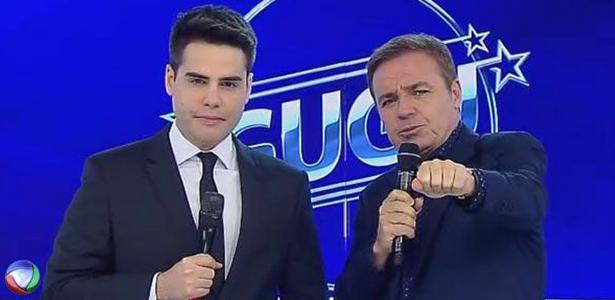 "Na Record, Luiz Bacci dança arrocha na abertura do ""Cidade Alerta"""