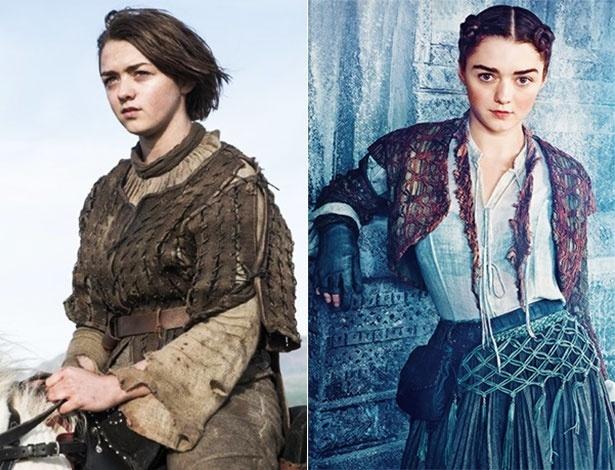 """Arya de """"Game of Thrones"""" muda em nova fase, e atriz teme reação dos fãs"""