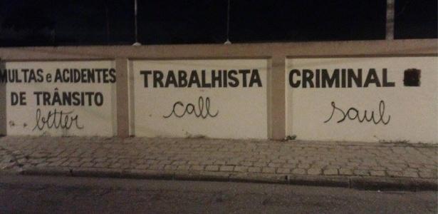 """Pichação de """"Better Call Saul"""" em Curitiba vira sensação nas redes sociais"""