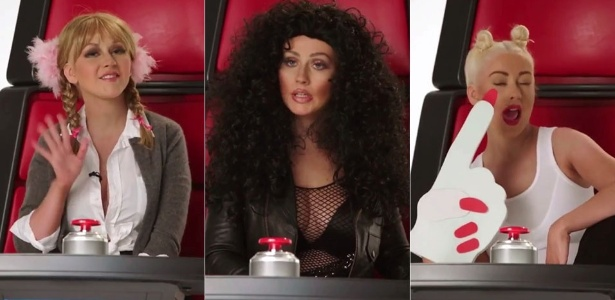 "Christina Aguilera imita Britney, Cher e Miley em vídeo do ""The Voice"""