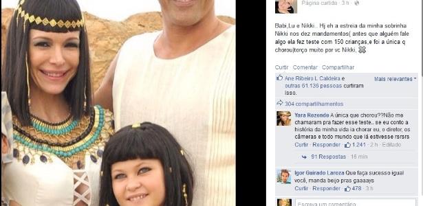 """Xuxa explica que sobrinha fez teste para entrar em """"Os Dez Mandamentos"""""""