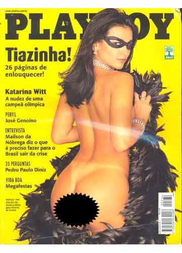 Suzana Alves quebrou o recorde de vendas de Playboy