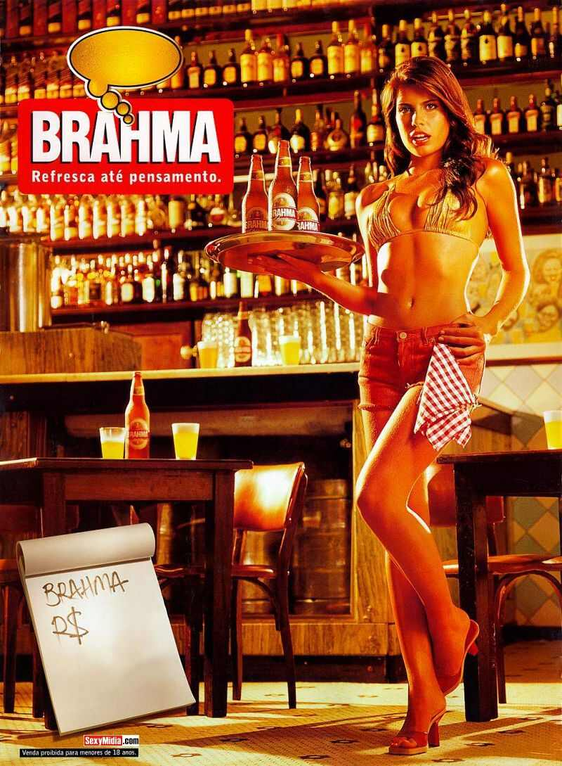 Em um calendário da Brahma