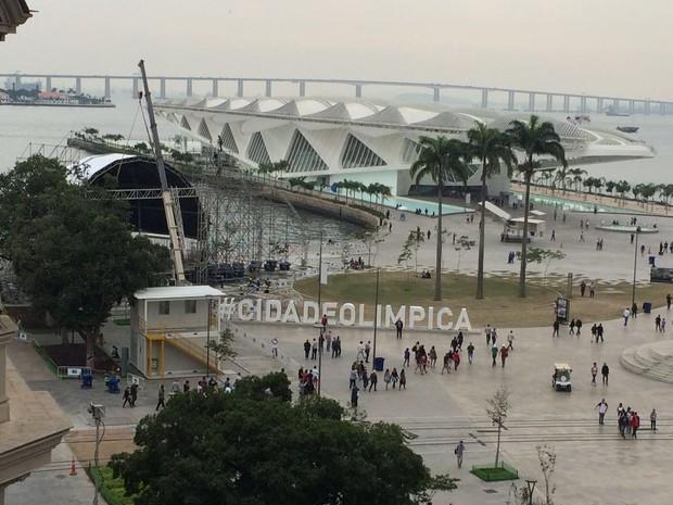 Praça Mauá receberá vários shows durante a Olimpíada (Foto: Fernanda Rouvenat/G1)
