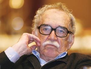 File photo shows Nobel Prize winner Garcia Marquez listening to a speech during a journalism seminar in Monterrey