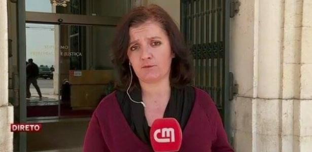 A repórter Tânia Laranjo / Reprodução