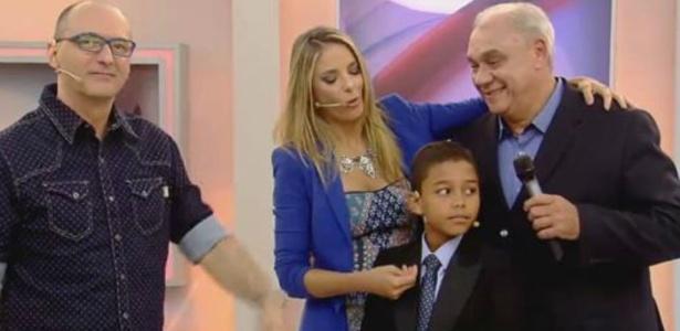 Após briga, Marcelo Rezende se encontra com Britto Jr. e Ticiane Pinheiro
