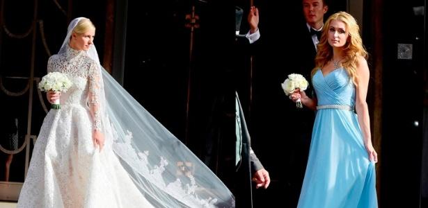 Socialite Paris Hilton vira madrinha da irmã em casamento com milionário