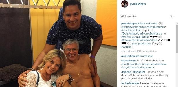 Xanddy comenta foto de Caetano Veloso de cueca postada na semana passada